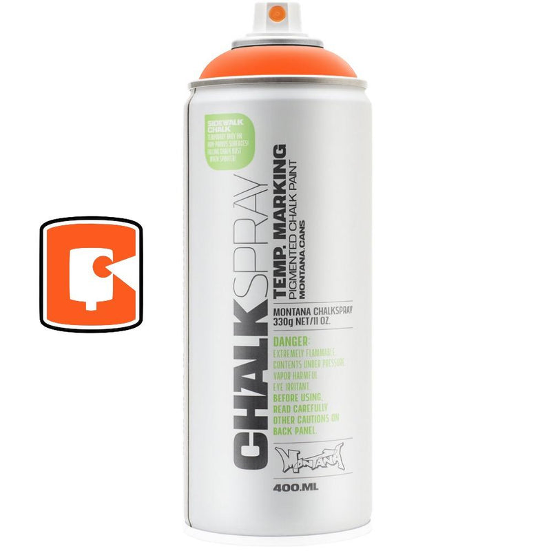 Orange-Montana Chalk-400ML Spray Paint-TorontoCollective
