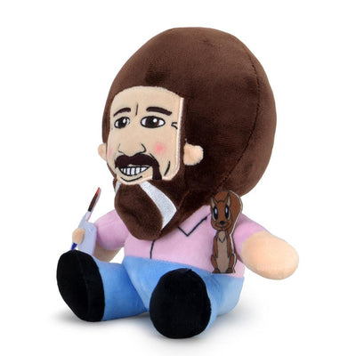 "BOB ROSS WITH PEAPOD 8"" PLUSH PHUNNY BY KIDROBOT"