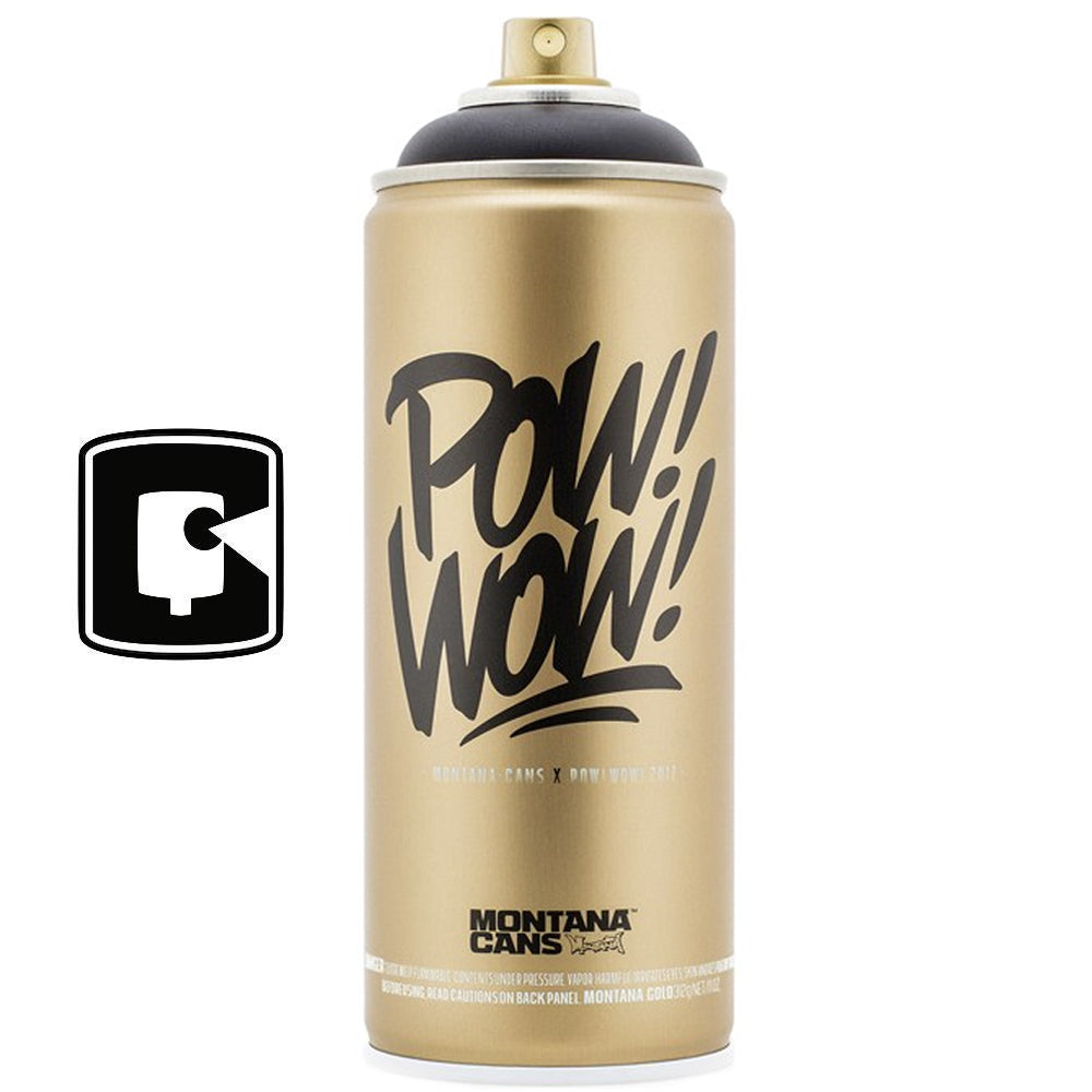 Pow Wow Montana Gold Shock Black Collectors Spray Paint