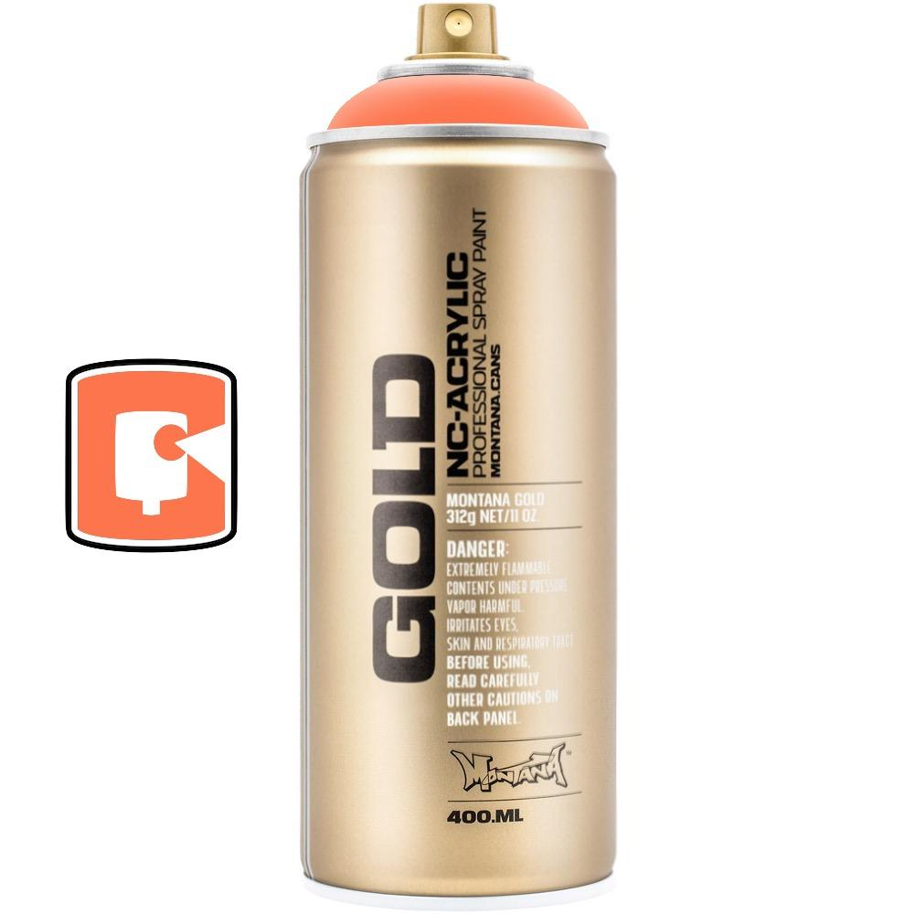 Power Orange-Montana Gold Fluorescents-400ML Spray Paint-TorontoCollective