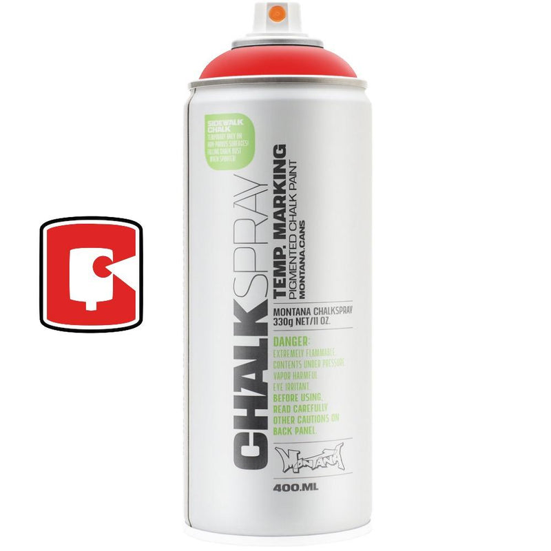 Red-Montana Chalk-400ML Spray Paint-TorontoCollective