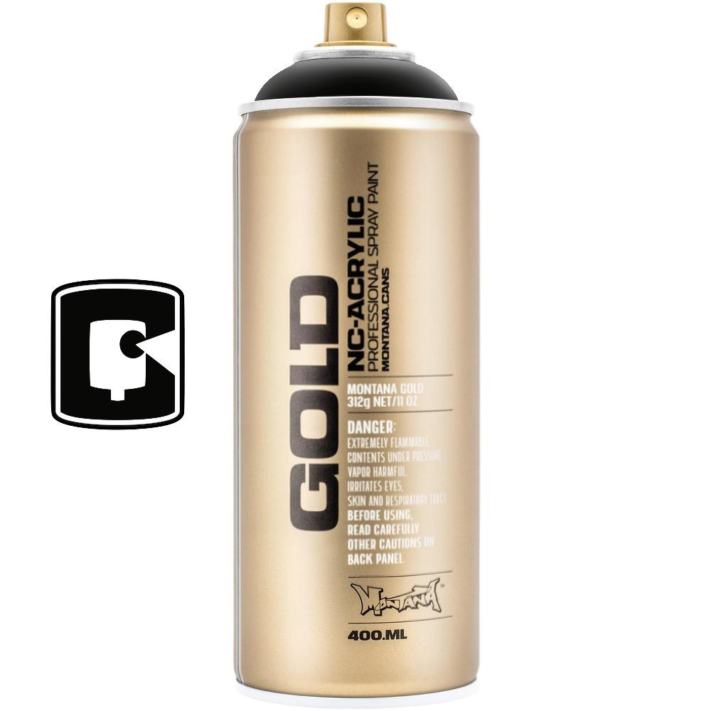 Shock Black-Montana Gold-400ML Spray Paint-TorontoCollective