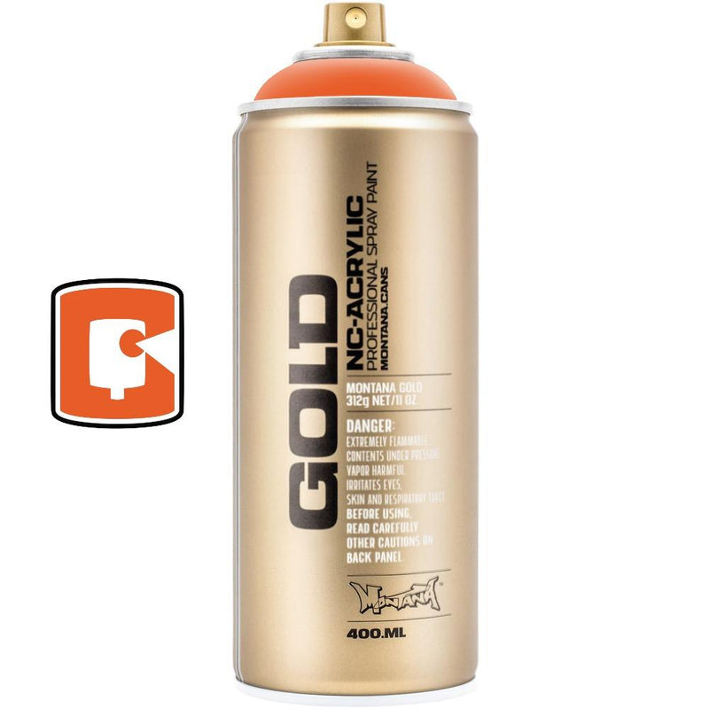 Shock Orange-Montana Gold-400ML Spray Paint-TorontoCollective
