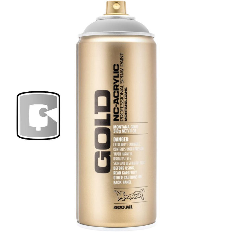 Silver Matt-Montana Gold Metallic-400ML Spray Paint-TorontoCollective