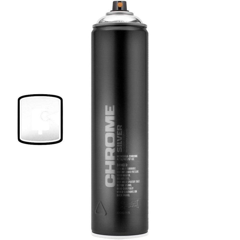Silverchrome-Montana Black Extended-600ML Spray Paint-TorontoCollective