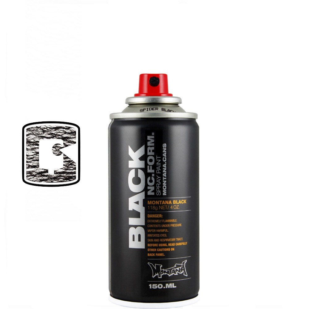 Spider Black-Montana Black-400ML Spray Paint-TorontoCollective