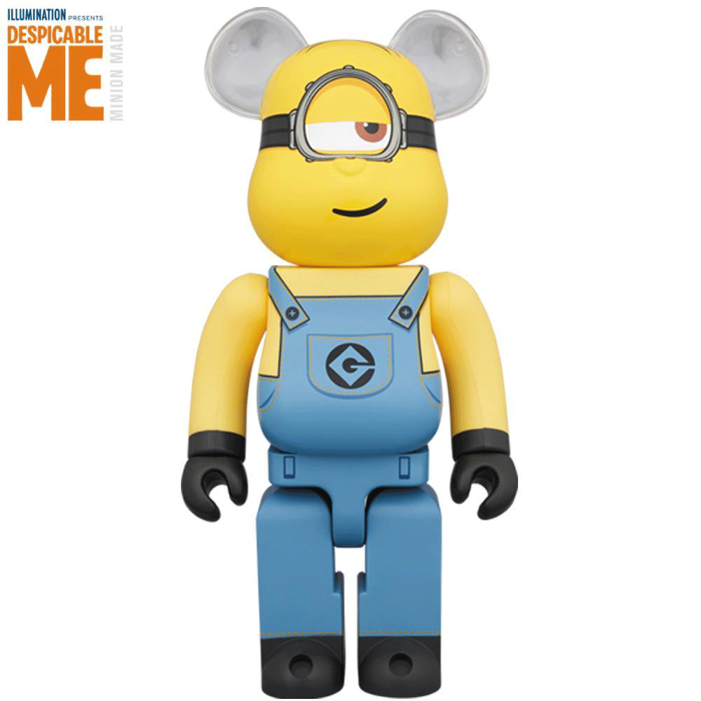 Dispicable Me Stuart minion 400% Bearbrick by Medicom Toy