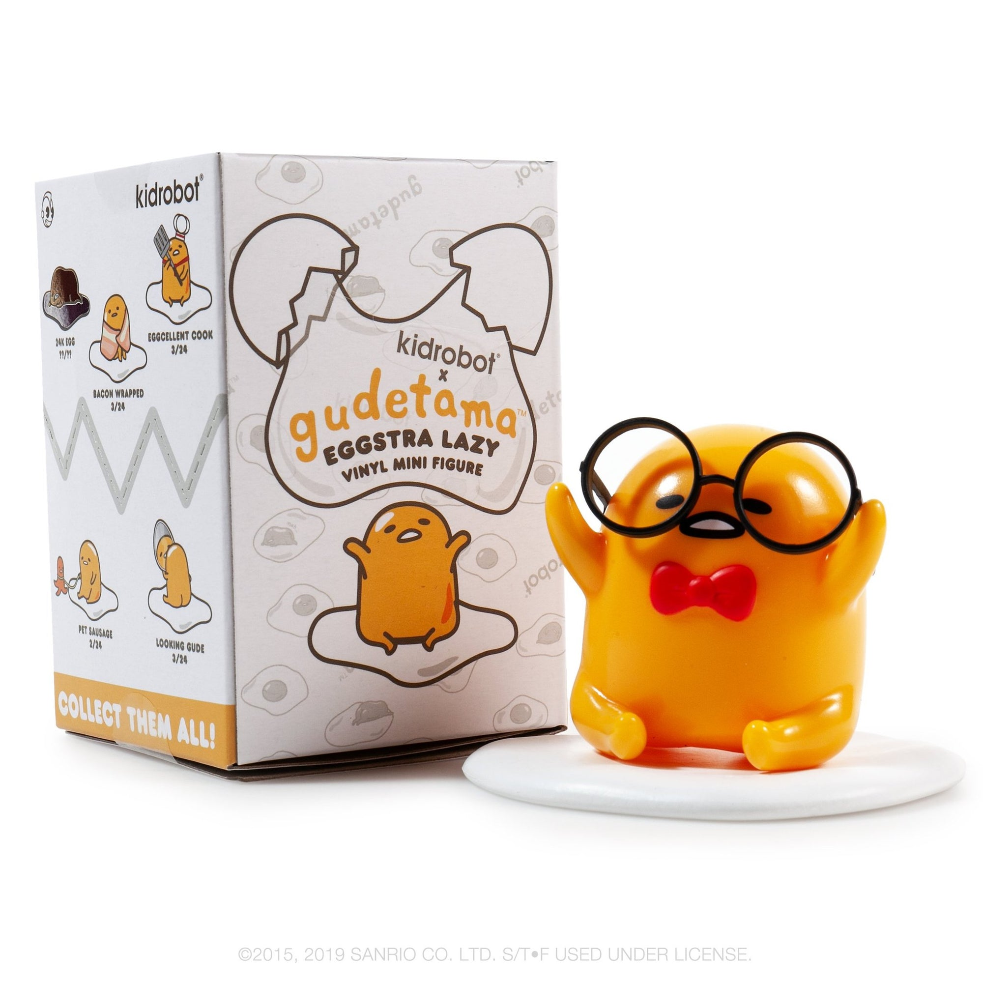 GUDETAMA EGGSTRA LAZY VINYL MINI FIGURE SERIES BY KIDROBOT