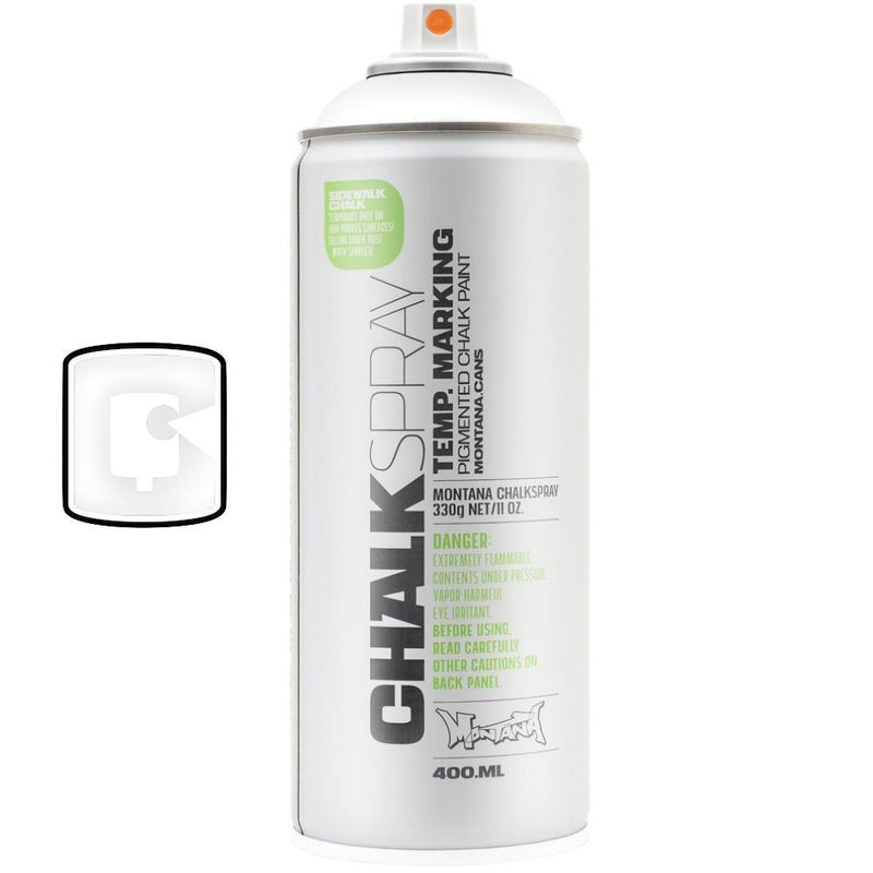 White-Montana Chalk-400ML Spray Paint-TorontoCollective