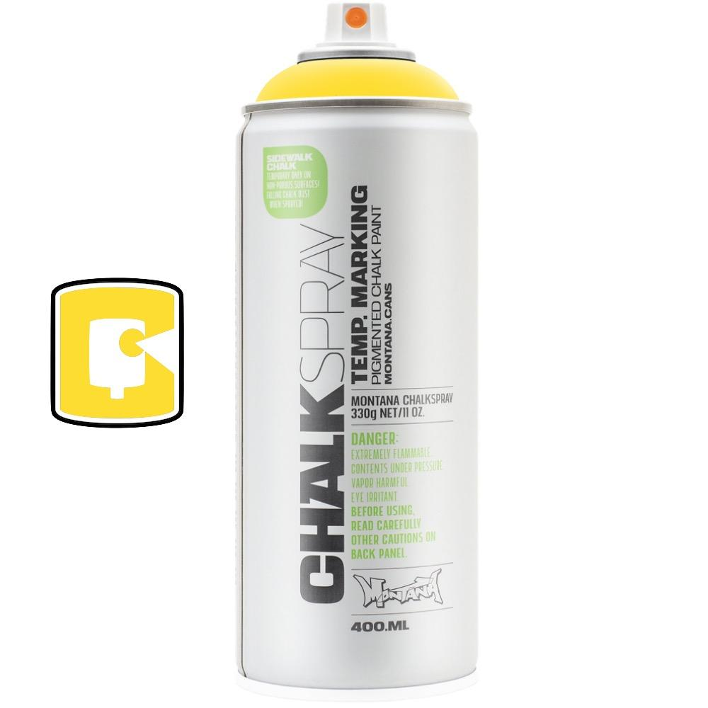 Yellow-Montana Chalk-400ML Spray Paint-TorontoCollective