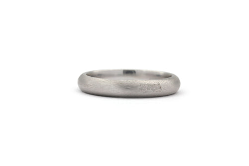 Matt Finish White Gold Wedding Band 14k