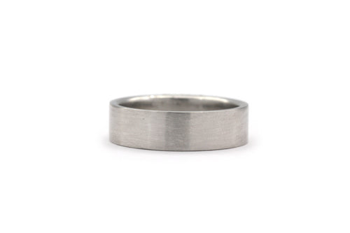 White Gold Flat Finish Wedding Band