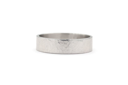 Soft Hammered Finish Wedding Band