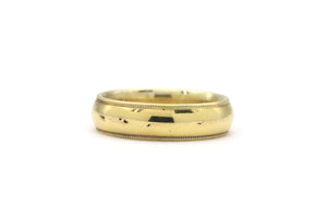 14k yellow gold knife edge band
