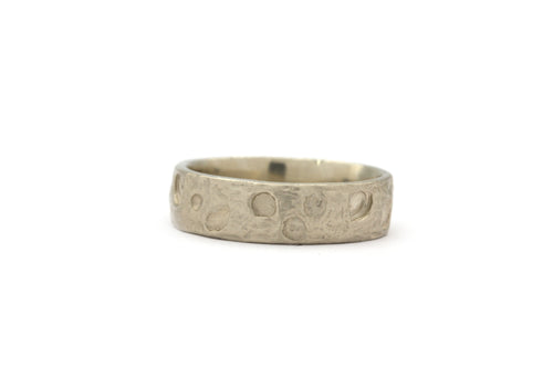 Moon Crater Wedding Band