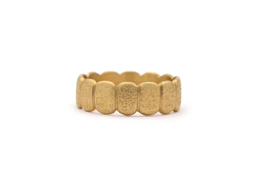 14k yellow gold nugget wedding band