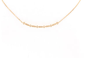 multi cut pave diamond necklace