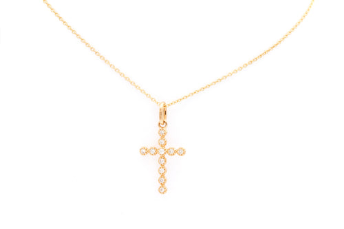 Rose Gold Diamond Cross