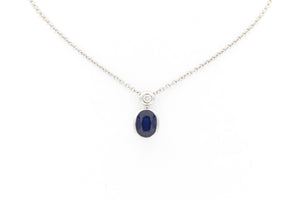 Oval Cut Sapphire Necklace