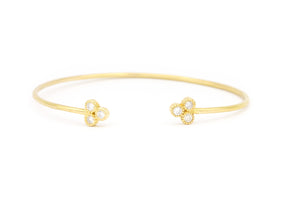 Triple Diamond Open Bangle