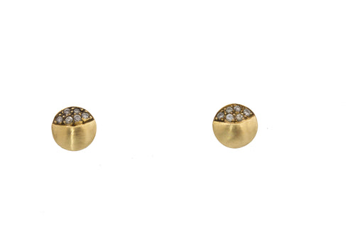 Yellow Gold Semi Circle Earrings