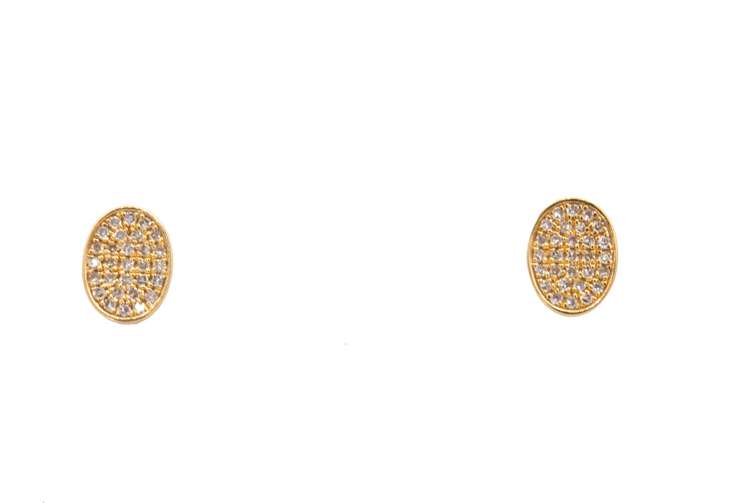 Oval Pavé Diamond Earrings