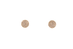 Rose Gold Round Pave Earrings