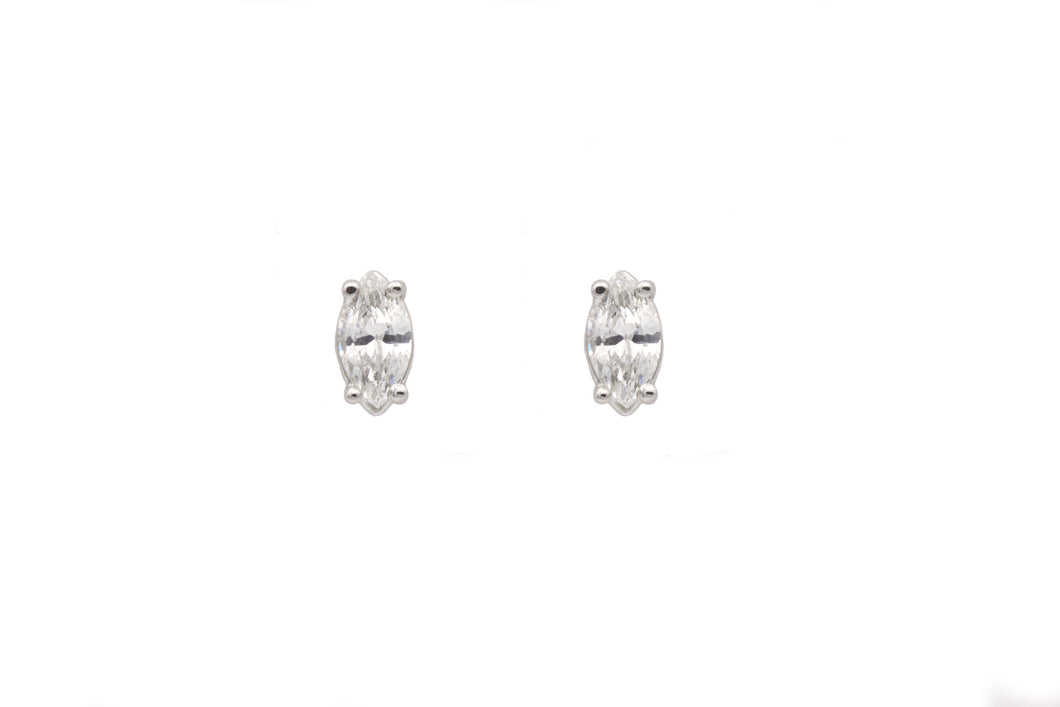 Diamond Marquis cut earrings