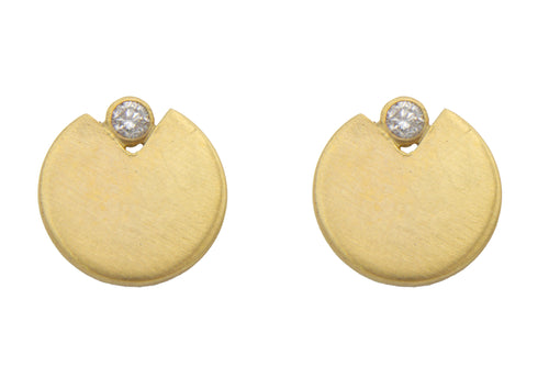 Pac-Man Diamond Earrings