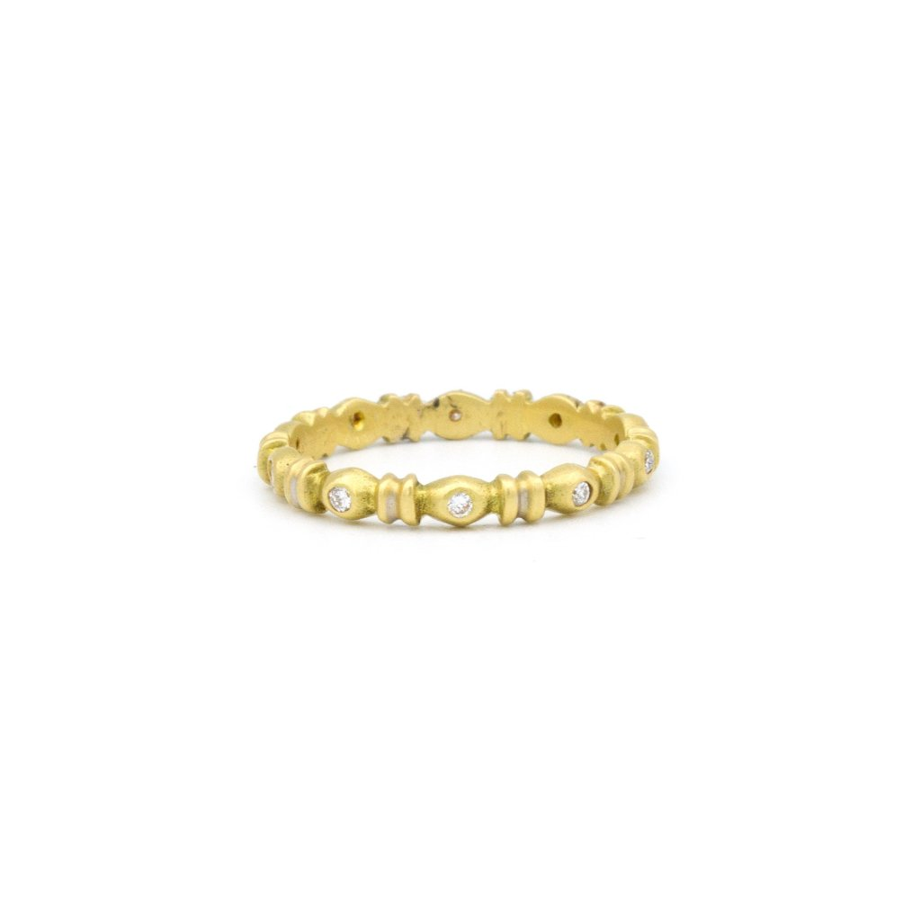 wedding band 14k yellow gold grecian style