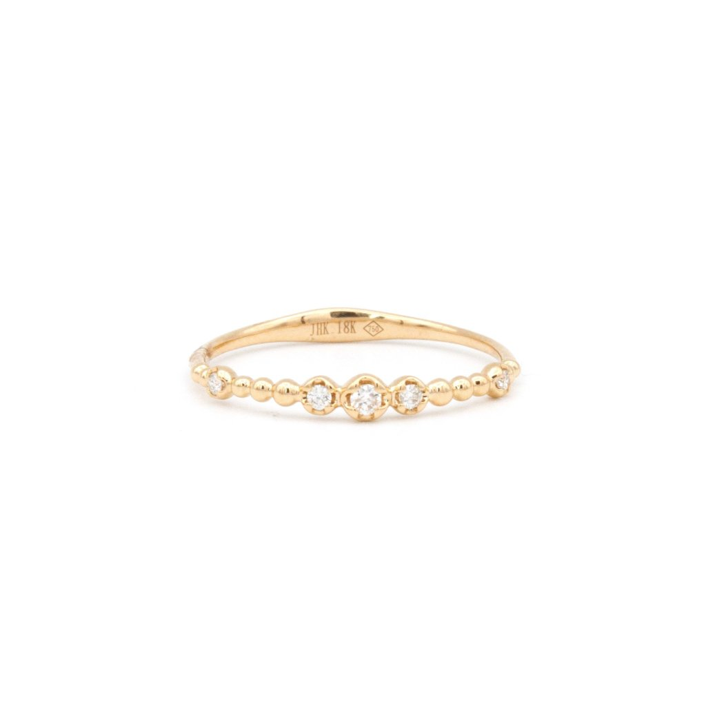 Rose Gold Diamond Bead Ring
