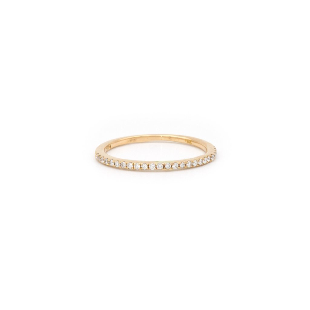 Rose Gold delicate Eternity Band