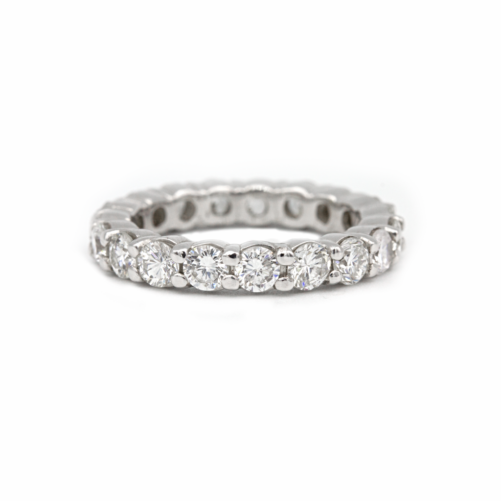 Diamond Eternity band 14k white gold