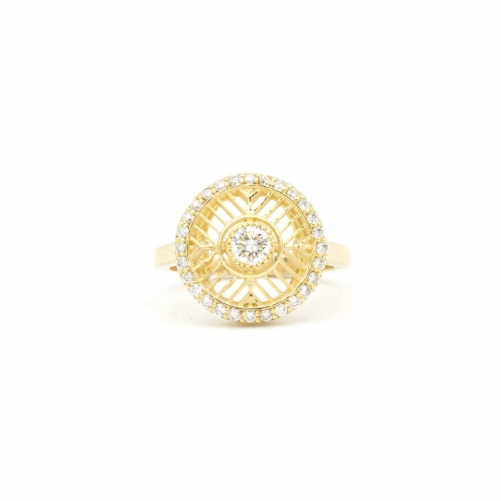 Diamond Cocktail Ring 14k yellow gold