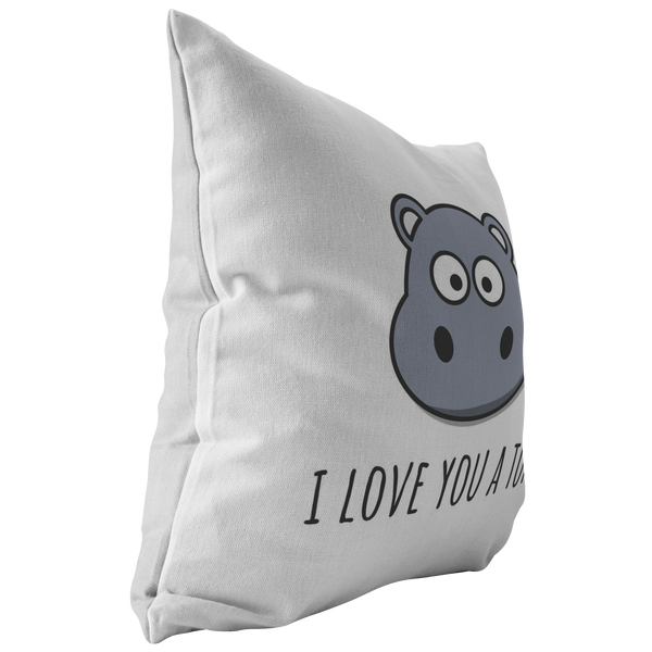 Cute Hippo Throw Pillow Boyfriend Or Girlfriend Gift Romantic Vale Realpeoplegoods