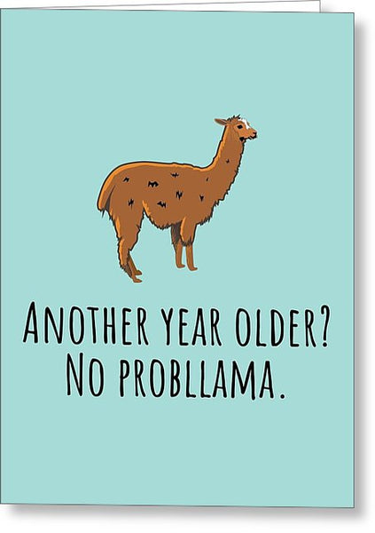Funny Llama Card - Llama Birthday Card - Llama Lover Card - Llama Greeting  Card - No Probllama - Greeting Card