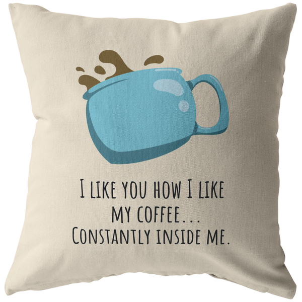 Long Distance Relationship Pillow.Romantic Sexy Gift For Boyfriend Funny Throw Pillow Constantly Inside Me Valentine Long Distance Relationship