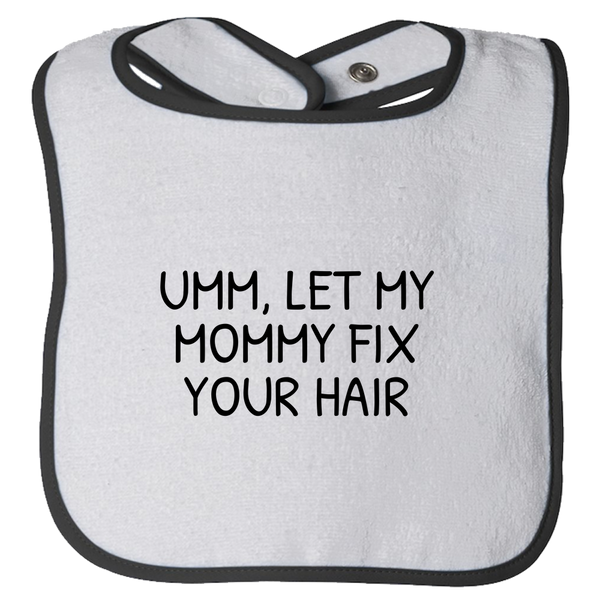 e07c5d08 Cute Hair Stylist Baby Bib Gift - Funny Hairdresser Baby Bib Present Idea -  Let My