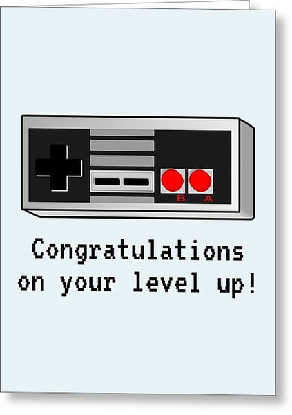 picture regarding Printable Video identify Video clip Gamer Birthday Card - Retro Recreation Console Printable Card - Congratulations Upon Your Position Up - Greeting Card