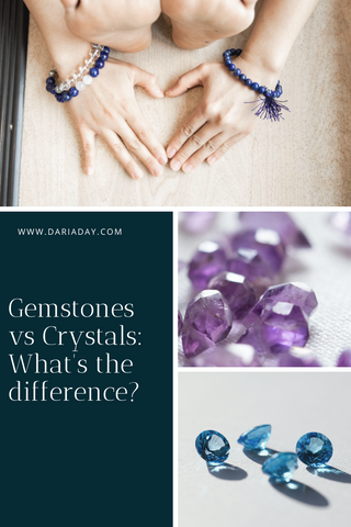 gemstones vs crystals what's the difference?