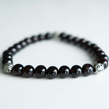 Bold and Dark Garnet Bracelet
