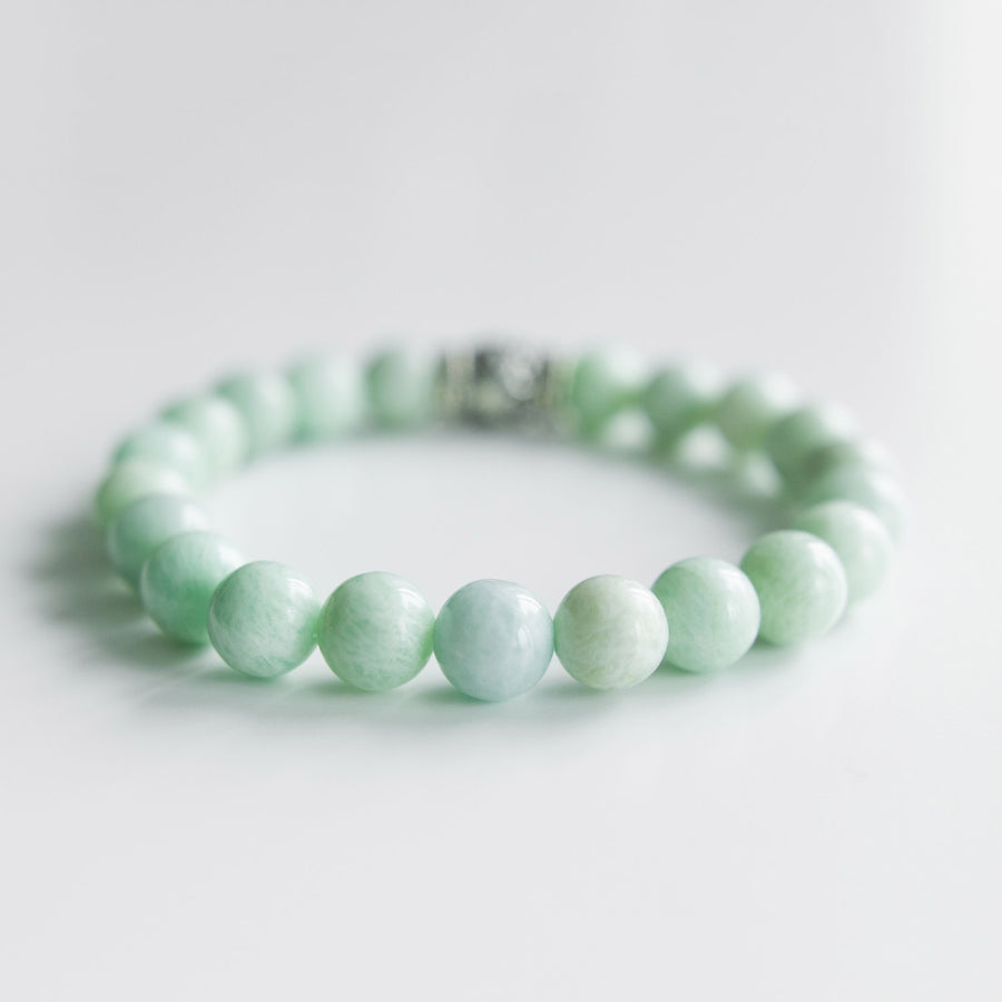 amazonite healing gemstones bracelet backside