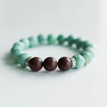 Green and Red Jasper Bracelet