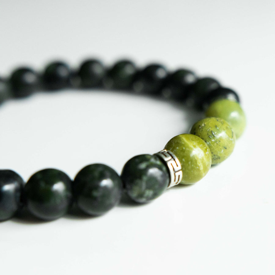 Two-Toned Green Serpentine Bracelet