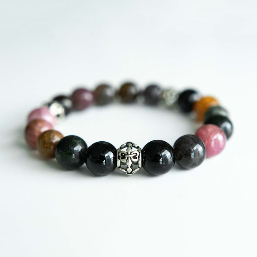 mixed tourmaline healing gemstones bracelet