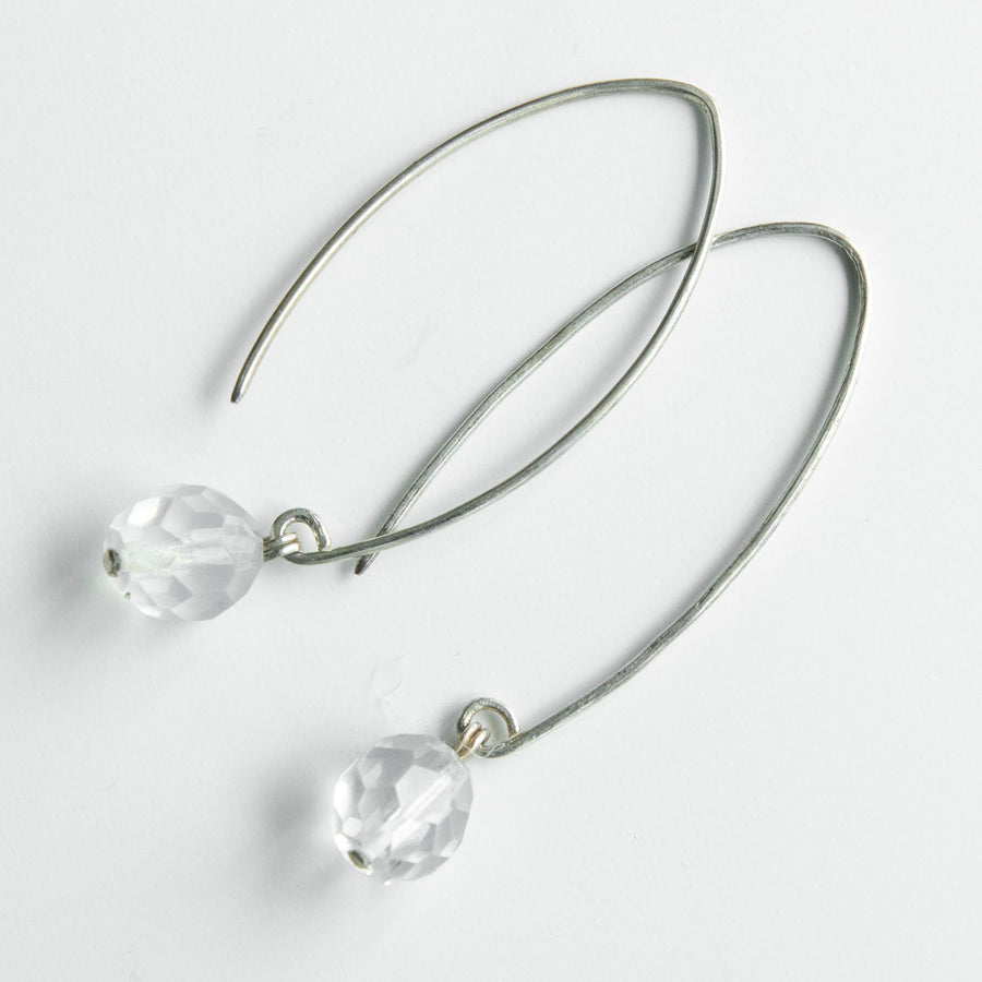 Radiant Moonstone Drop Earrings