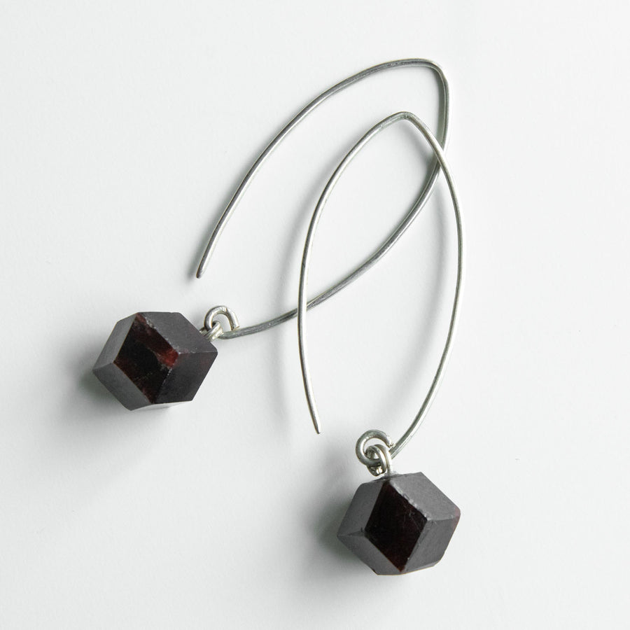 Radiant Garnet Drop Earrings
