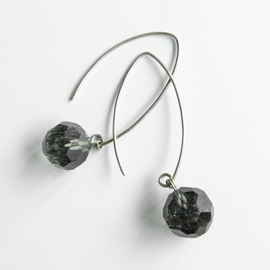 Radiant Rutilated Quartz Drop Earrings