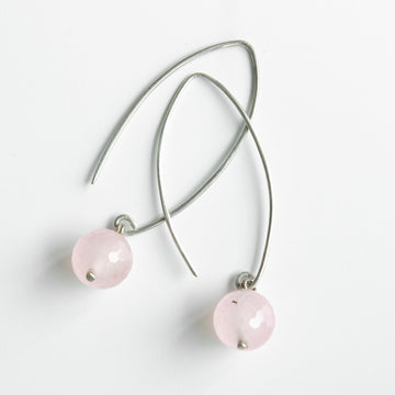 radiant rose quartz healing gemstones drop earrings