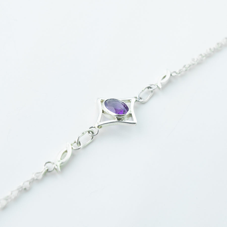 north star amethyst healing gemstone bracelet